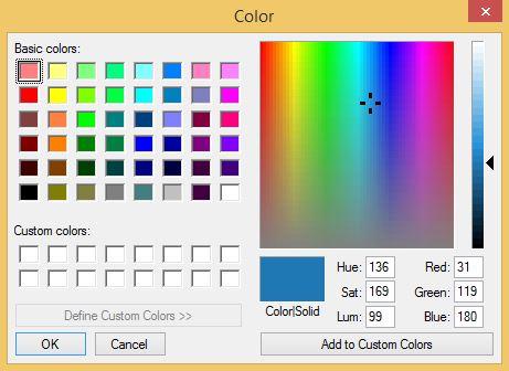 Tableau Custom Color Dialog Box
