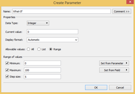 Tableau 201: How to Make a What-If Analysis Using Parameters