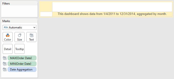 Date Settings Alert Text Sheet in Tableau