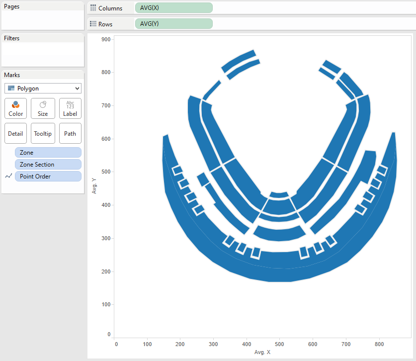 Kauffman Stadium Polygon Map In Tableau