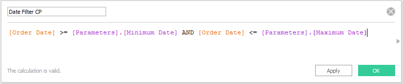 Tableau Date Filter Current Period