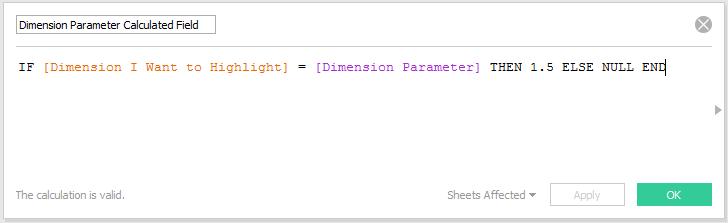 Dimension Parameter Calculated Field in Tableau