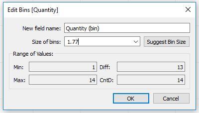 Tableau Edit Bins Quantity
