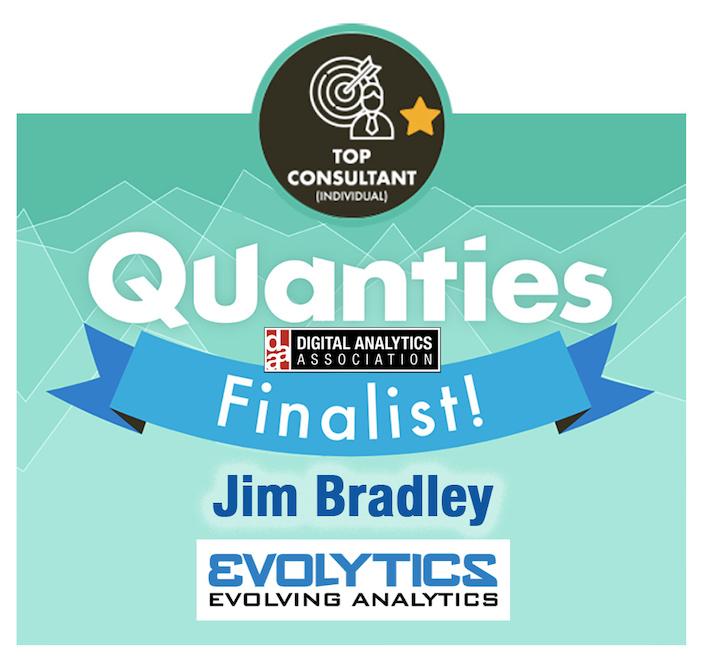 Evolytics MarTech Architect Jim Bradley Named Finalist for Top Consultant Award
