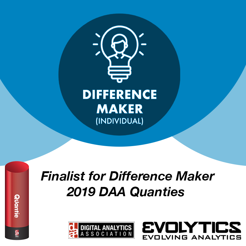 Evolytics Director of Data Operations Chase Porter receives Top Difference Maker Finalist Nomination