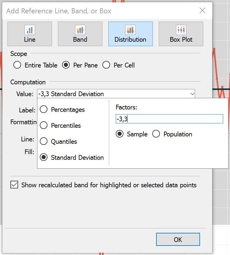 Tableau Reference Distribution Standard Deviation Evolytics Data