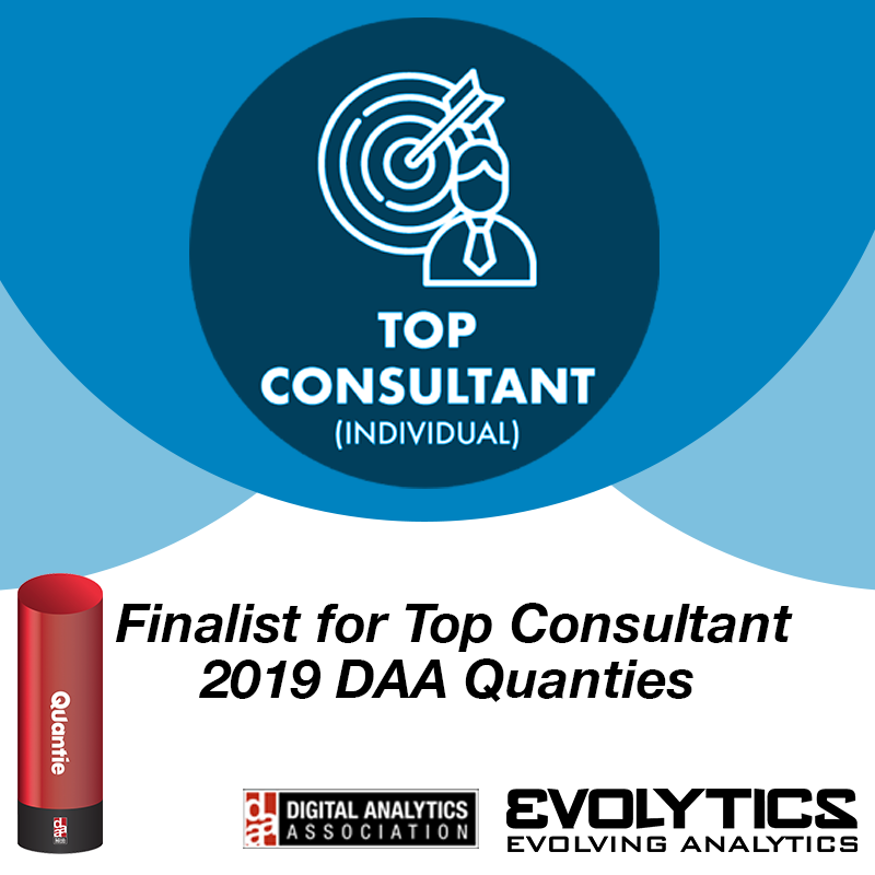 Evolytics and Marc Richard Receive Top Consultant Quanties Finalist Nomination