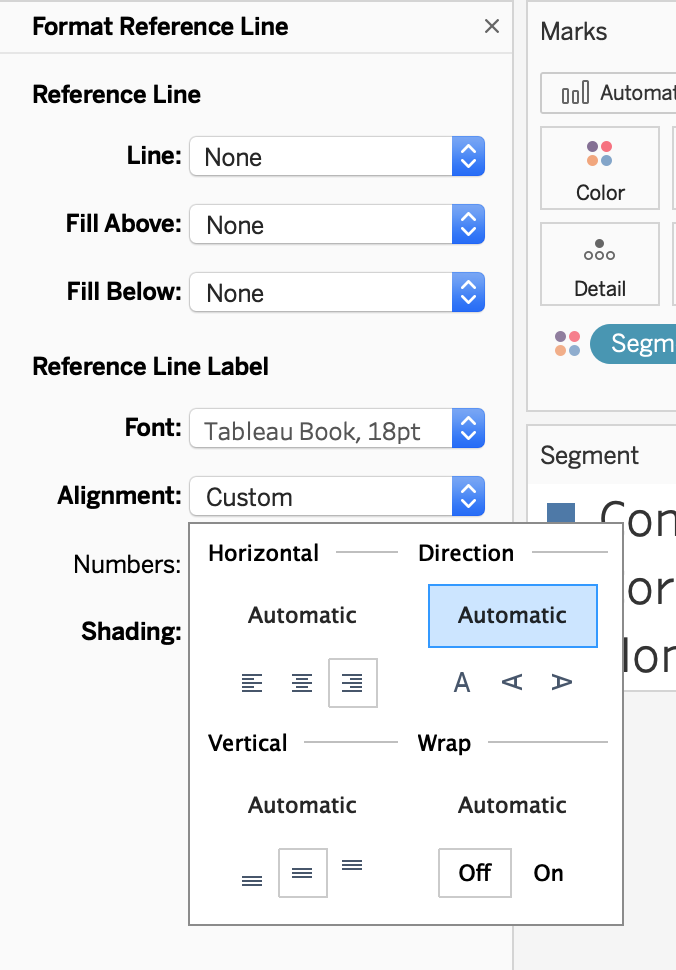 Formatting Reference Lines In Tableau