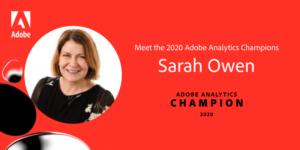 Sarah Owen Adobe Analytics Champion